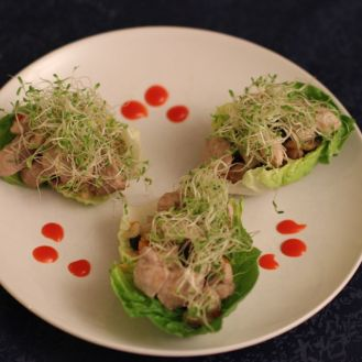 "San Choy Bau - Kinesisk ""taco"" i salatblader"