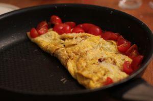 fransk omelett ferdig brettet